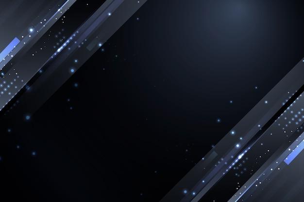 Donkere deeltjesachtergrond met grijze fonkelingen Gratis Vector