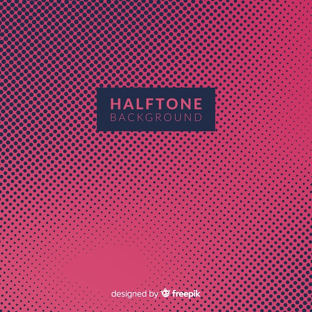 Donkere halftone achtergrond Gratis Vector