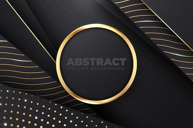 Donkere papierlagenachtergrond met gouden details Gratis Vector
