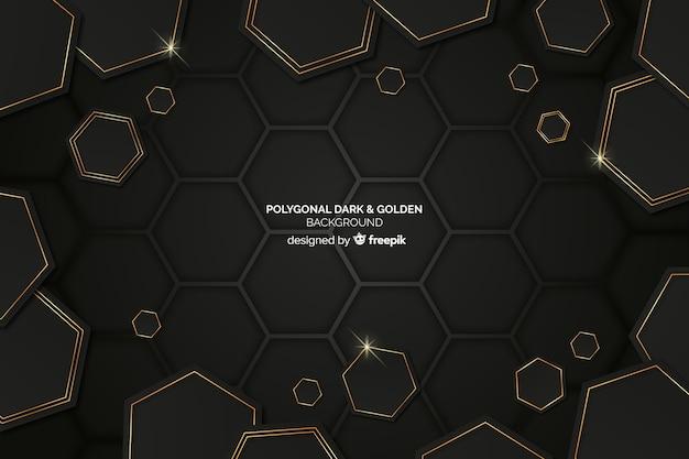 Donkere veelhoekige achtergrond Gratis Vector