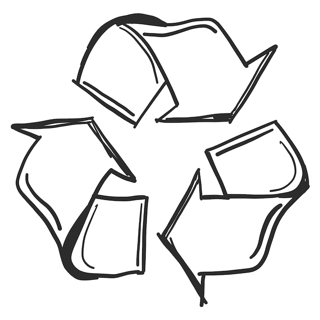 Doodle kringloopsymbool Gratis Vector
