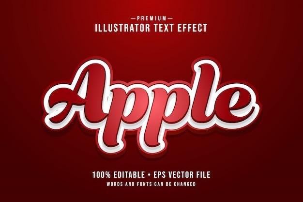 Door apple bewerkbaar 3d-teksteffect of grafische stijl met rood verloop Premium Vector