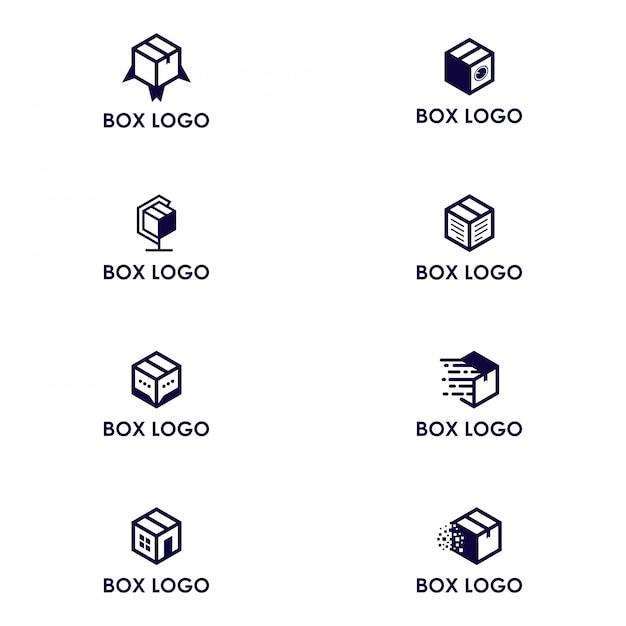 Doos logo pack Premium Vector