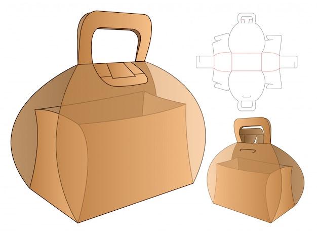 Doos verpakking gestanst sjabloon Premium Vector