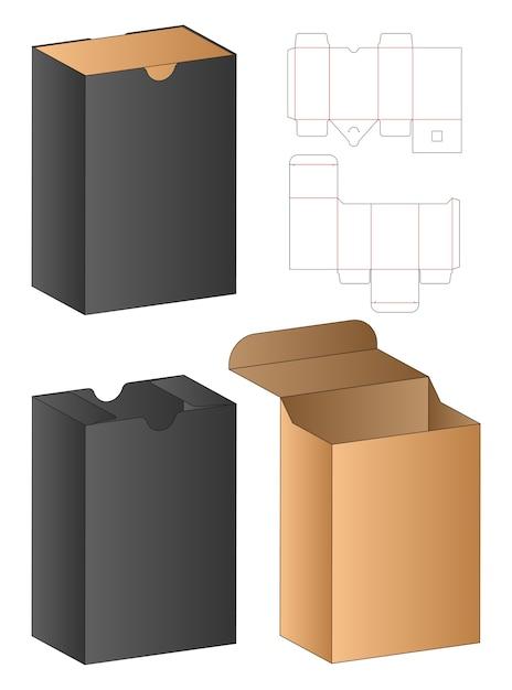Doos verpakking gestanst sjabloonontwerp Premium Vector
