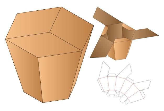 Doos verpakking gestanst sjabloonontwerp. Premium Vector