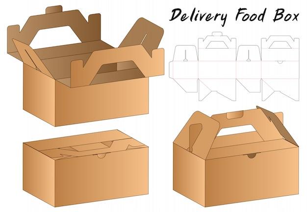 Doosverpakking gestanst matrijsontwerp Premium Vector