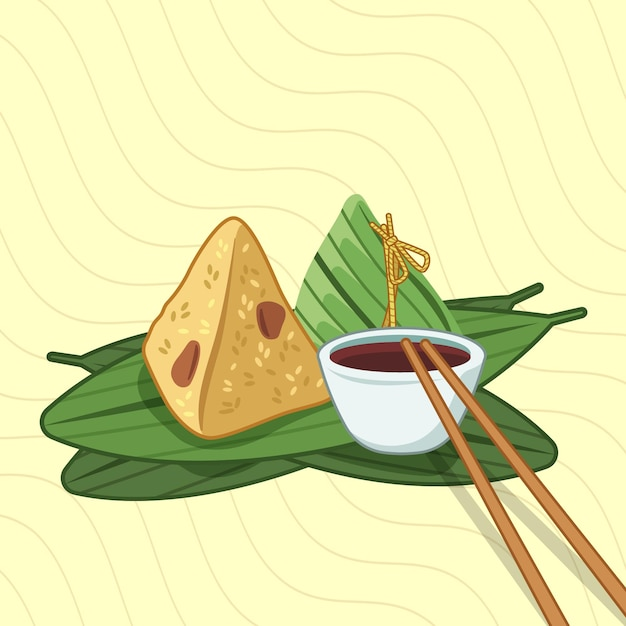 Dragon boten zongzi behang Gratis Vector