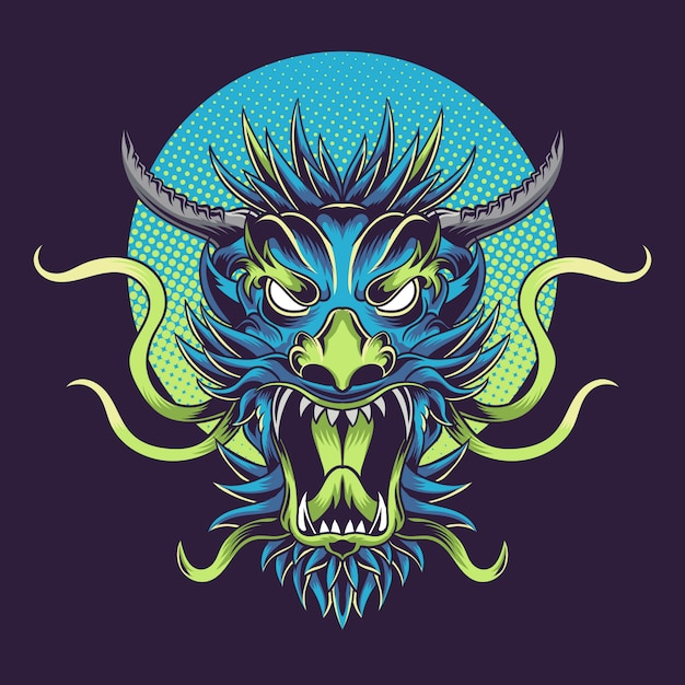 Dragon scream Premium Vector