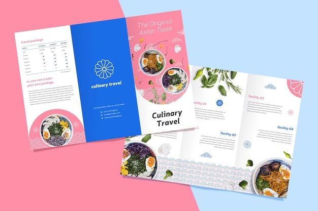 Driebladige brochure concept Gratis Vector