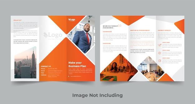 Driebladige brochure ontwerpsjabloon Premium Vector