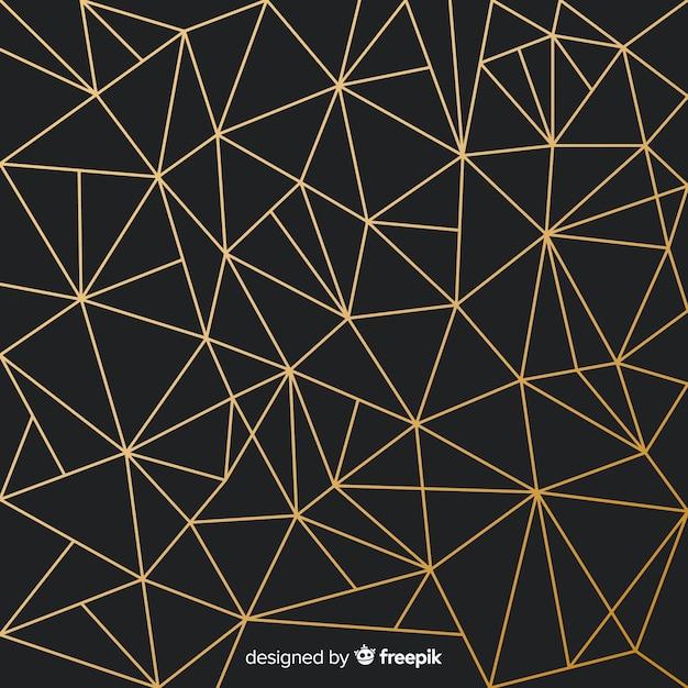 Driehoek achtergrond Gratis Vector