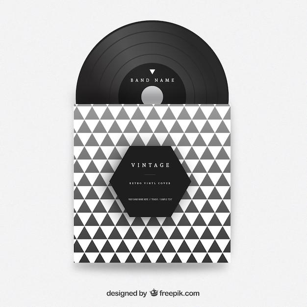 Driehoeken vinyl cover Gratis Vector