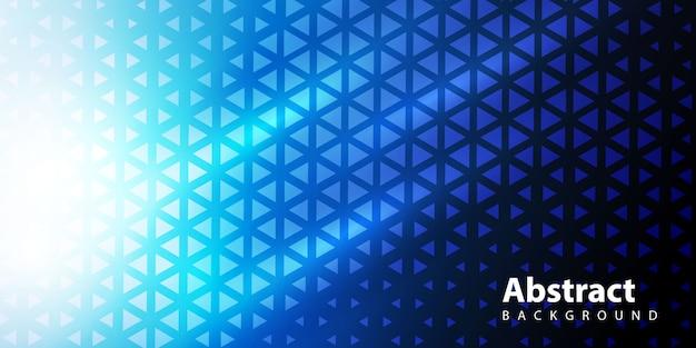 Driehoekig patroon in verloop Gratis Vector
