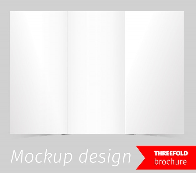 Drievoudig brochure-mockupontwerp Gratis Vector