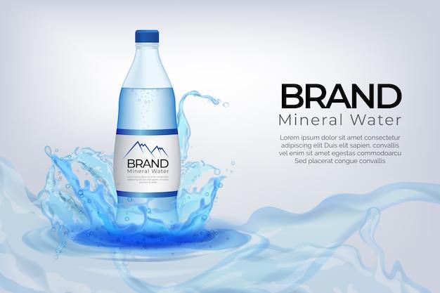 Drink advertentieontwerp Gratis Vector