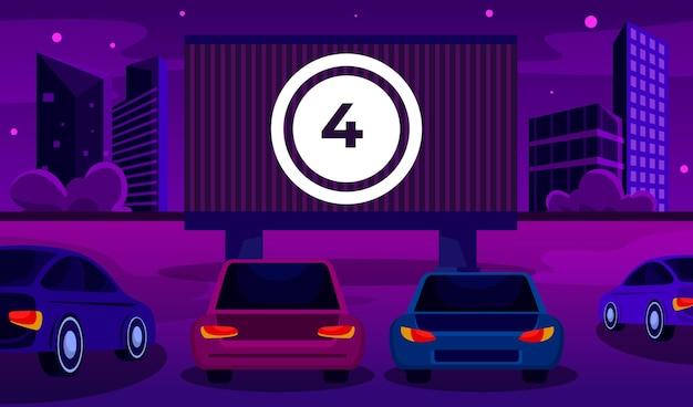 Drive-in bioscoop Gratis Vector