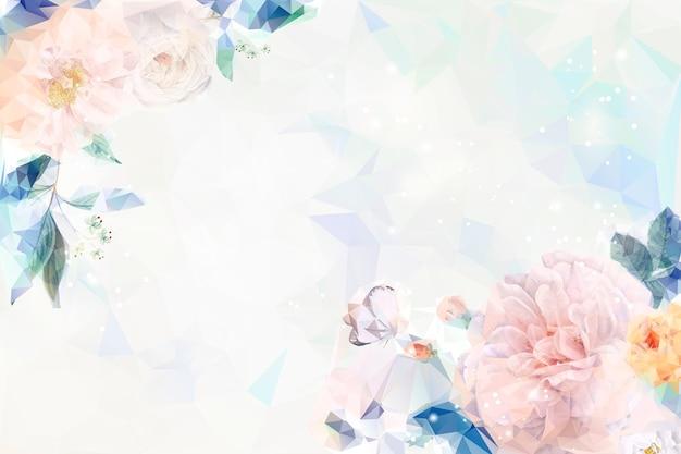 Dromerige bloemenachtergrond Gratis Vector