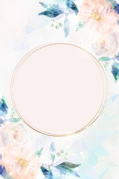 Dromerige bloemenuitnodigingskaart Gratis Vector