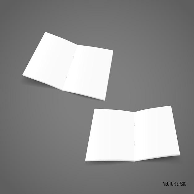 Dubbelzijdig sjabloonpapier Premium Vector