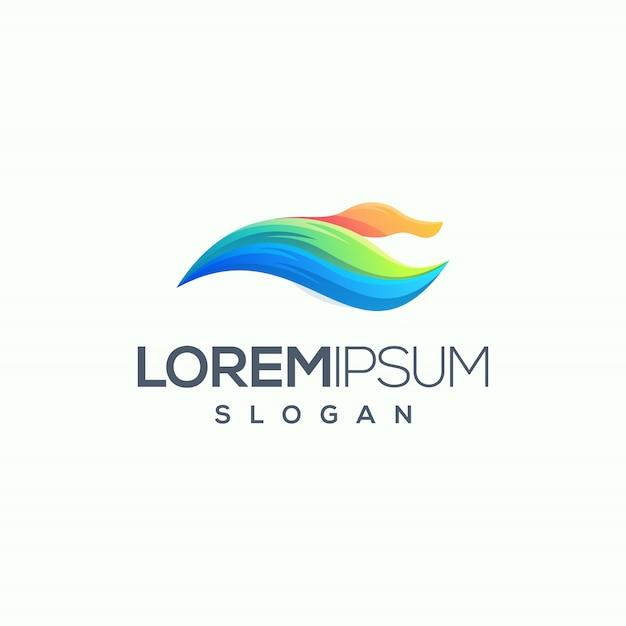 Duck logo ontwerp vector illustratie klaar voor gebruik Premium Vector
