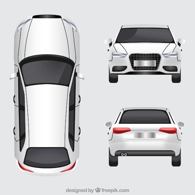 Duitse auto in verschillende uitzichten Premium Vector