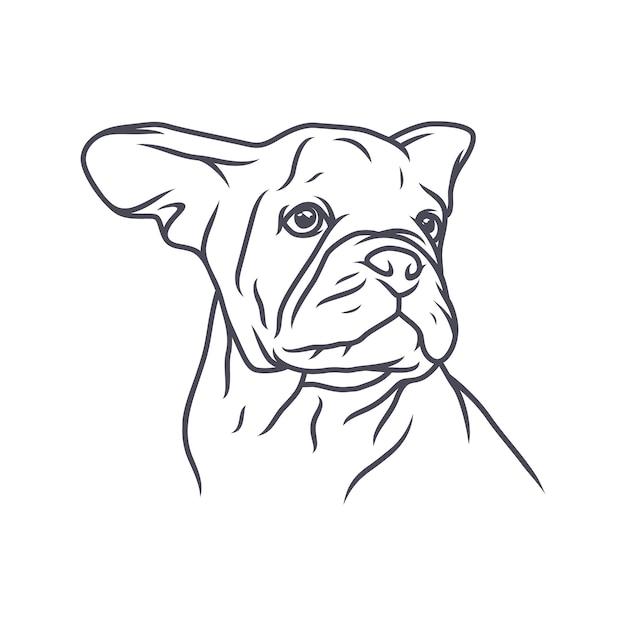 Duitse herder dog - vector logo / pictogram illustratie mascotte Premium Vector