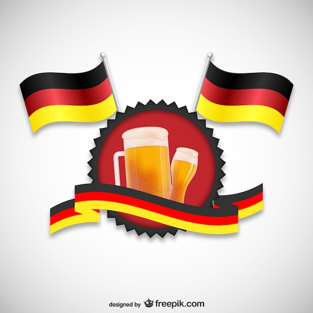 Duitse vlaggen en bier Vector | Gratis Download