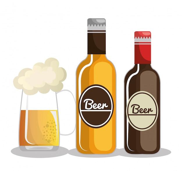 Duitsland bier ontwerp Gratis Vector