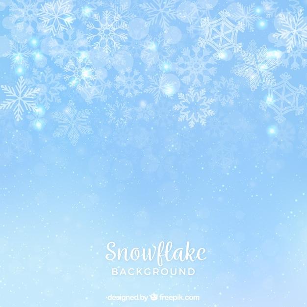 Dunne sneeuwvlok achtergrond Gratis Vector