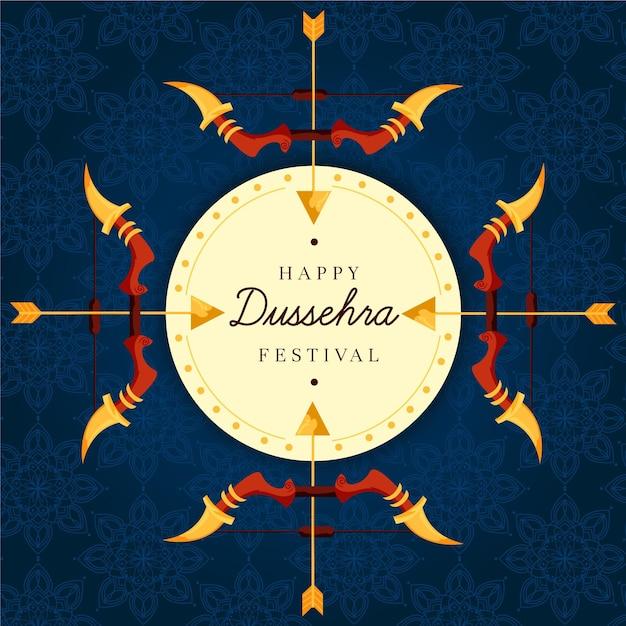 Dussehra-evenementviering Gratis Vector