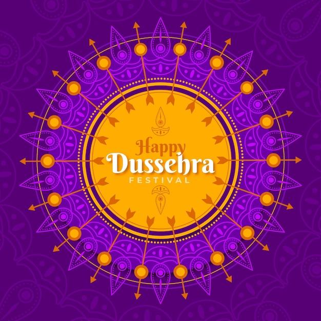 Dussehra festival afbeelding ontwerp Gratis Vector