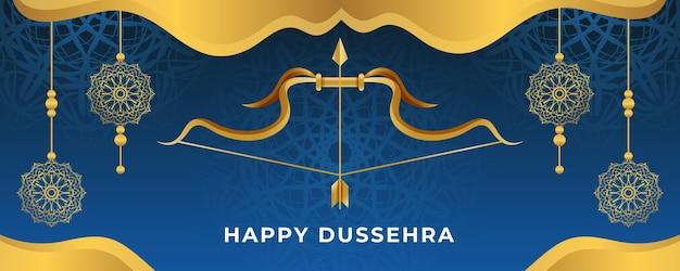 Dussehra festival sjabloon voor spandoek Gratis Vector