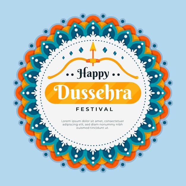 Dussehra illustratie Gratis Vector