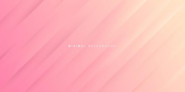Dynamisch verloop van roze achtergrond Premium Vector