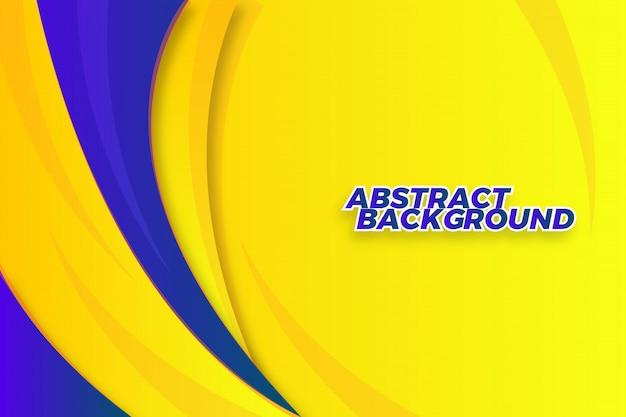 Dynamische abstracte golf vormen achtergrond sjabloon Premium Vector