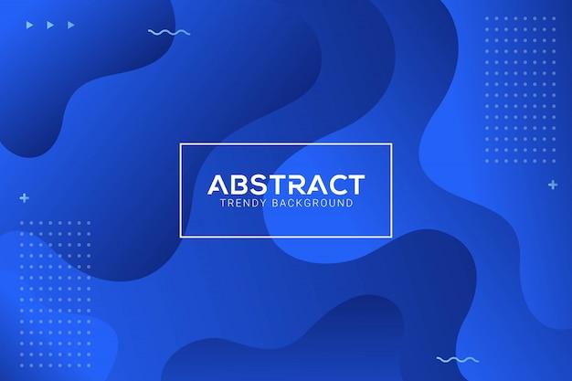 Dynamische abstracte vloeibare trendy blauwe gradatieachtergrond Premium Vector