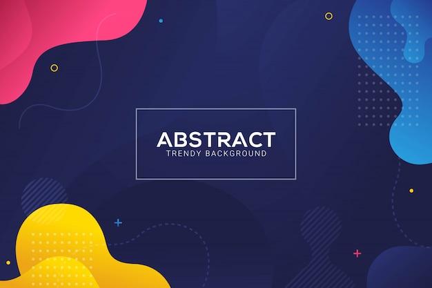 Dynamische abstracte vloeibare trendy kleurgradatie achtergrond Premium Vector