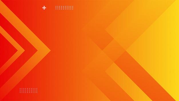 Dynamische achtergrond met oranje kleurverloop Premium Vector