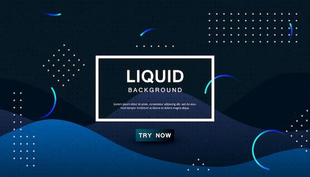 Dynamische blauwe abstracte golvende achtergrond Premium Vector