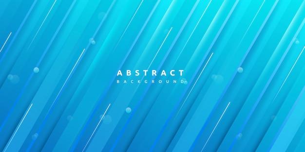 Dynamische kleurrijke blauwe streep textuur achtergrond Premium Vector