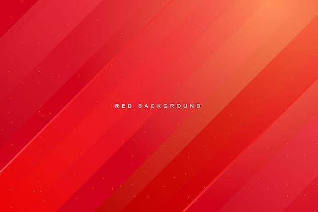 Dynamische levendige moderne rode achtergrond Premium Vector