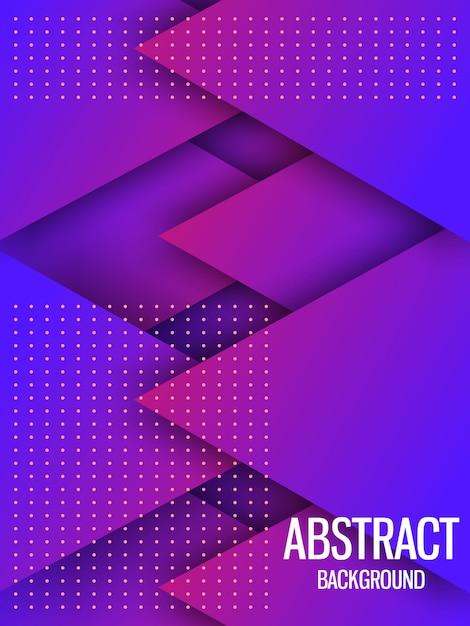 Dynamische paarse geometrische achtergrond Premium Vector