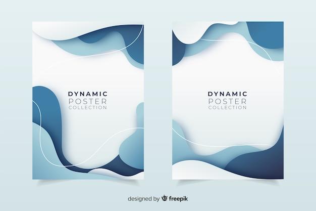 Dynamische posterverzameling Gratis Vector