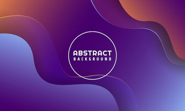 Dynamische vloeibare vormen abstracte achtergrond Premium Vector
