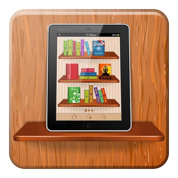 E-boek concept Premium Vector