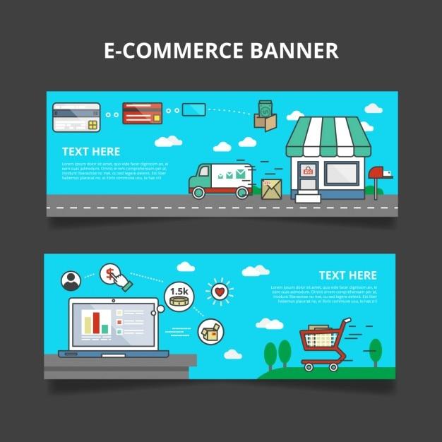E-commerce Banner Set Vector   - 62.1KB