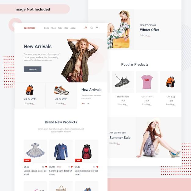 E-commerce e-mailsjabloon Premium Vector