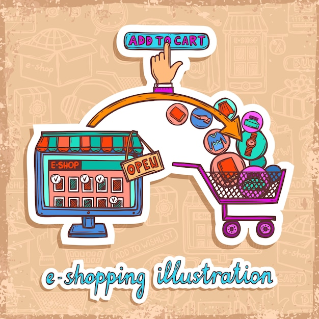 E-commerce ontwerpconcept Premium Vector