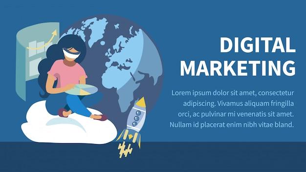 E-commerce vlakke kleurenbanner Premium Vector